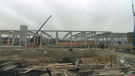Baustelle in Müllendorf