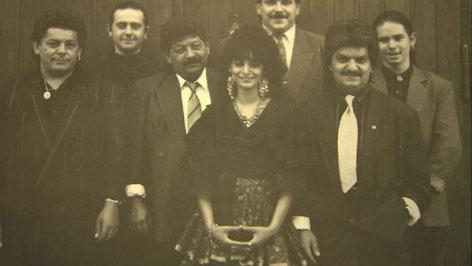 David Samers Familie auf einem alten Foto