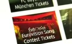Screenshot von falschem Song-Contest-Karten-Angebot im Internet