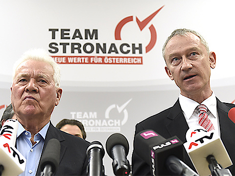 Frank Stronach und Wolfgang Auer