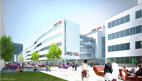 Modell für neuen Modul-Standort