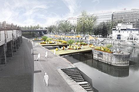 """Schwimmende Gärten"""" nach Pariser Vorbild sind am Wiener Donaukanal geplant"""