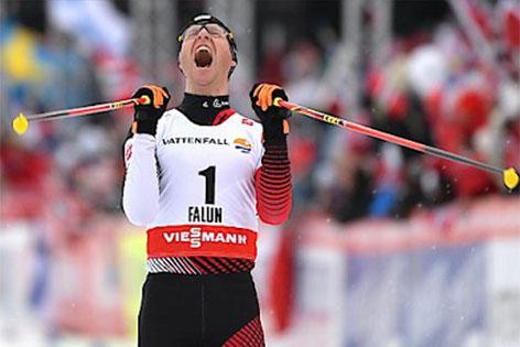 Bernhard Gruber siegt bei der WM in Falun