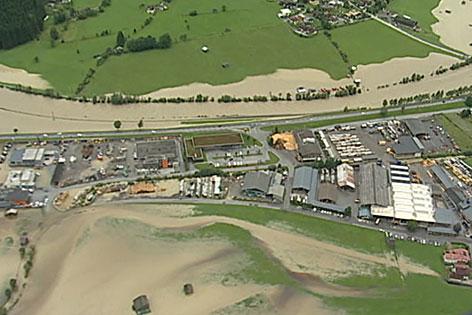 Luftbild Hochwasser