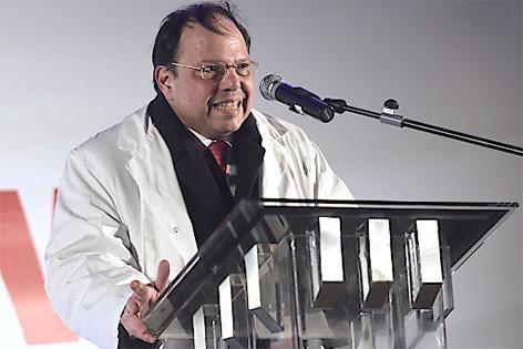 Der Präsident der Wiener Ärztekammer Thomas Szekeres am Donnerstag, 5. März 2015, anl. einer Protestkundgebung der Ärztekammer