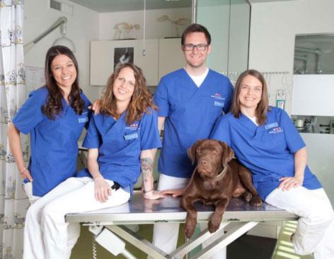 Das Team um Tierarzt Dr. Matthias Seewald