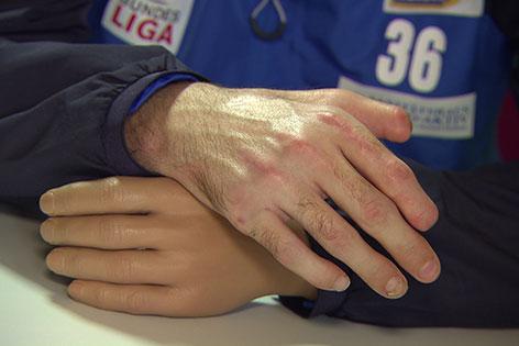Die Hände des Andreas Schicker