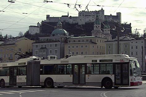 Obus in der Stadt Salzburg