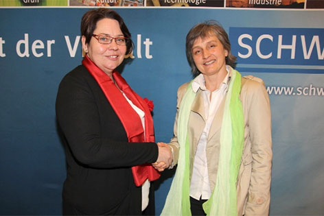 Karin Baier (SPÖ) und Brigitte Krenn (GRÜNE)