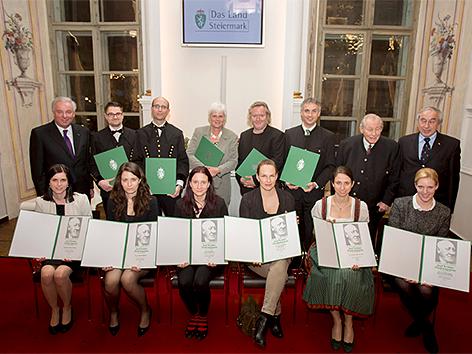 Die Preisträger des Josef-Krainer-Preises 2015