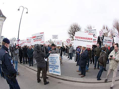 Wirte Protest Steuerreform Wien