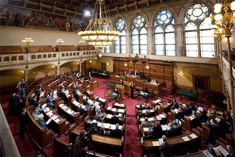 Gemeinderat Landtag Saal Wien