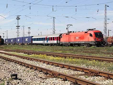 Güterverkehr ÖBB Bahnhof Rumänien