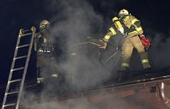 Großbrand in Wohnblock in Bischofshofen