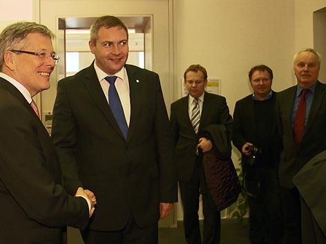 Dejan Židan minister kmetijstvo Peter Kaiser SJK Štefan Domej