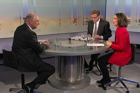 Erwin Pröll in der ORF Pressestunde
