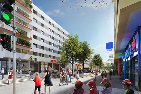 Seestadt Einkaufsstraße