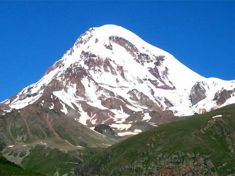 Der 5.047 Meter hohe Kasbek