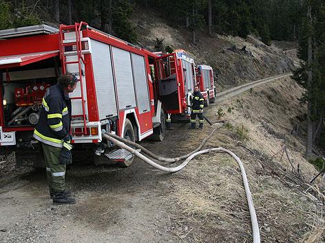 Waldbrand Göriach