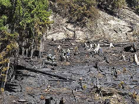 Waldbrand Lurnfeld Tag sechs
