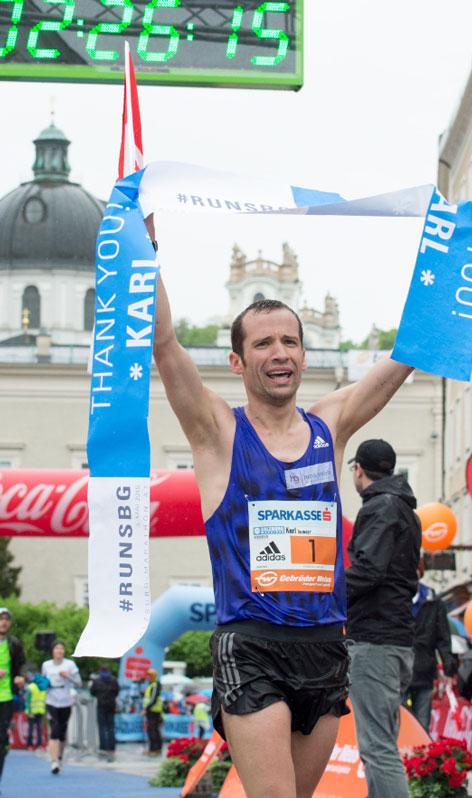 Sieger des Salzburg Marathon 2015, Karl Aumayr