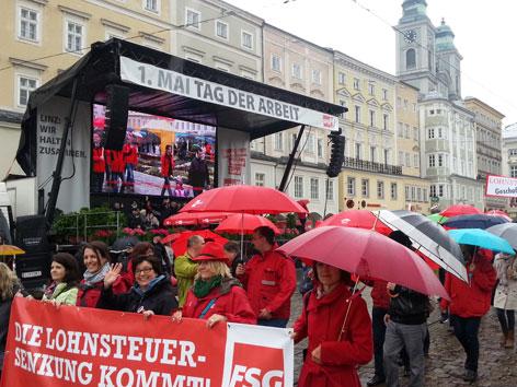 Aufmarsch SPÖ zum Tag der Arbeit