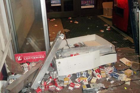 Gesprengter Zigarettenautomat