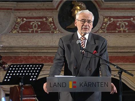 Festredner Erhard Busek bei der Gedenkveranstaltung Kärnten 1915-2015 im Wappensaal des Landhauses