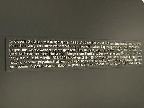 Gedenktafel Klagenfurt Burg Nazi