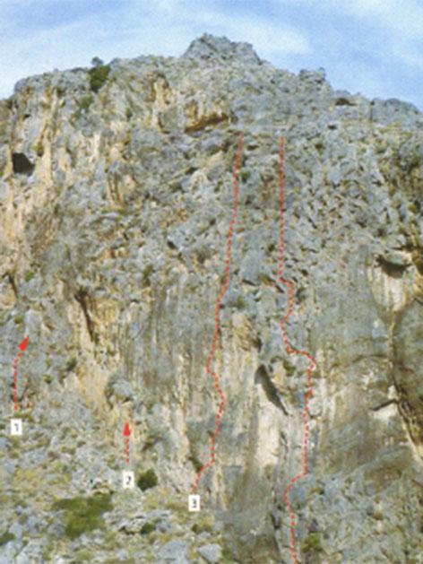 Die Kapsa-Wand in der Pervolakia-Schlucht