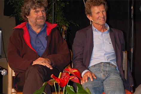 Albert Precht und Reinhold Messner bei den Alpintagen Altenmarkt