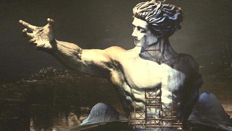 Tosca-Bühnenbild