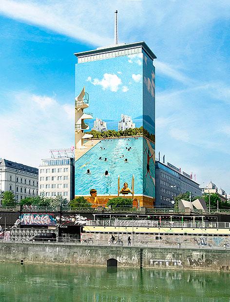 Rendering vom Wiener Ringturm
