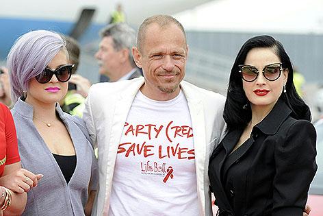 Kelly Osbourne,Gerry Keszler und Dita von Teese