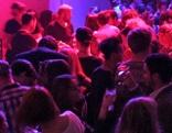 """Blick auf das Cafe Leopold während der ersten """"Eurovision Night"""""""