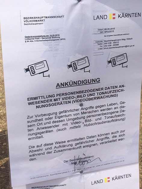 Bleiburg Kriegsgedenken Kroaten Loibacher Feld