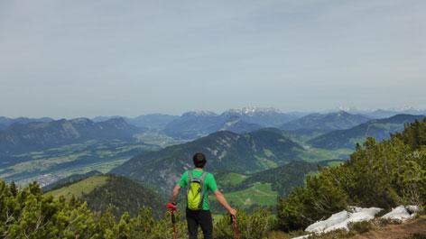 Wanderung Gratlspitz Ausblick Inntal