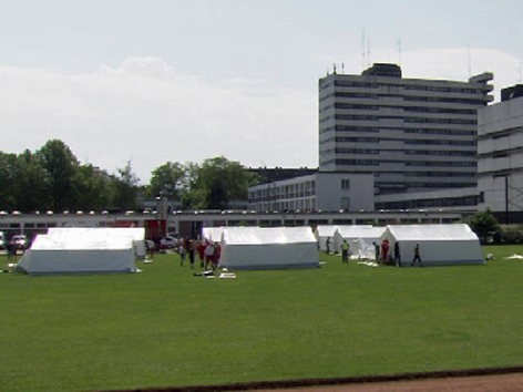 Zelte für Flüchtlinge