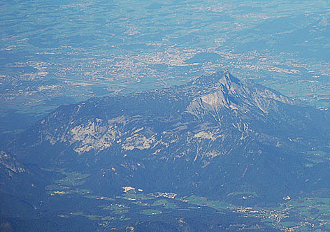 Untersberg Flugbild Berchtesgadener Hochthron Salzburger Hochthron