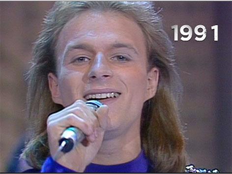 Thomas Forstner im Jahr 1991 beim Songcontest