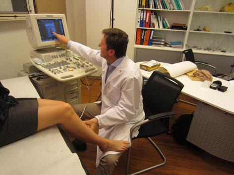 Ultraschalluntersuchung Beine