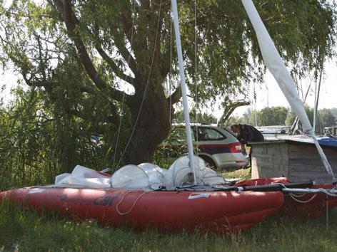 Das Boot, mit dem die Oberösterreicher verunglückten