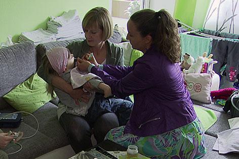 Palliativbetreuung für ein Mädchen