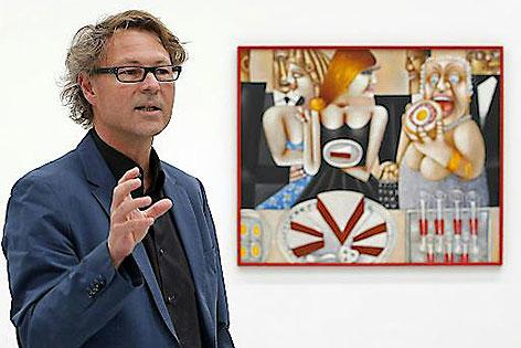 Hans-Peter Wipplinger anlässlich bei einer Pressekonferenz im Museum Liaunig im April 2015
