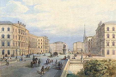 Ein Projekt für den Schwarzenbergplatz von Moriz von Löhr aus dem Jahr 1861