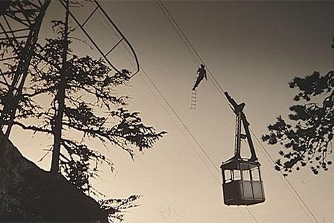 Altes Foto der Seilbahn zur Eisriesenwelt bei Werfen (Pongau)