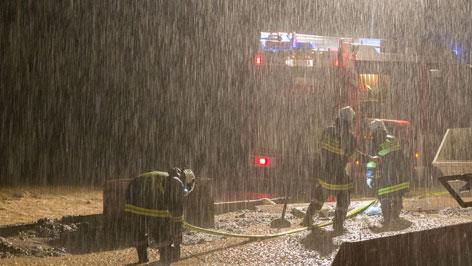 Feuerwehreinsatz bei Gewitter