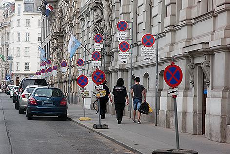 Schilder in der Prinz Eugen-Straße