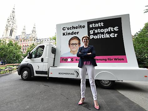 Spitzenkandidatin Beate Meinl-Reisinger (NEOS)