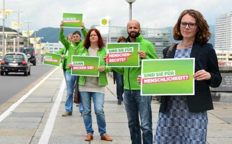 Grüne mit Antwort auf SPÖ-Plakataktion